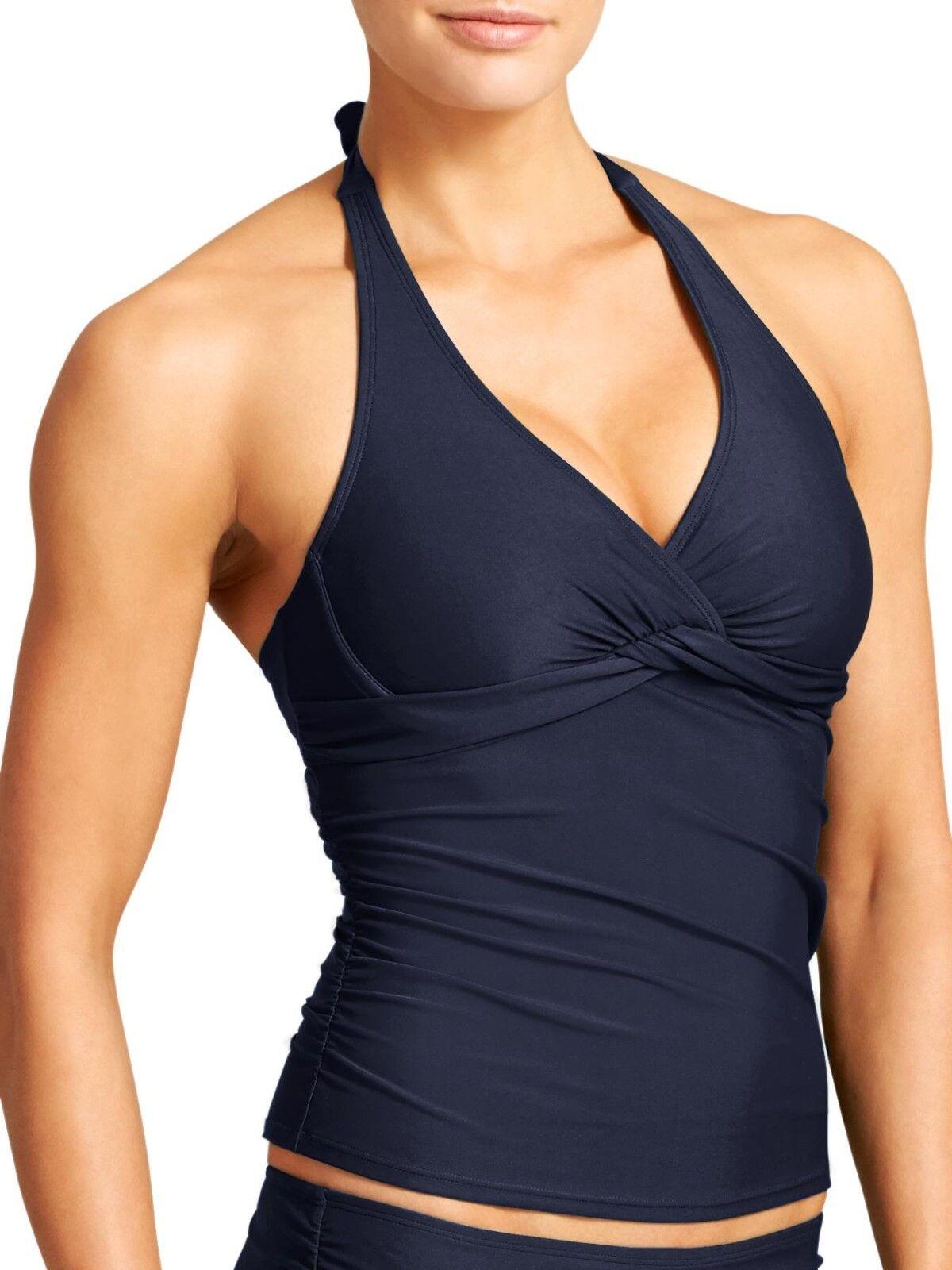NWT Athleta Tara Halter Tankini Dress bluee SIZE 36 D DD  36 D   DD   (T)