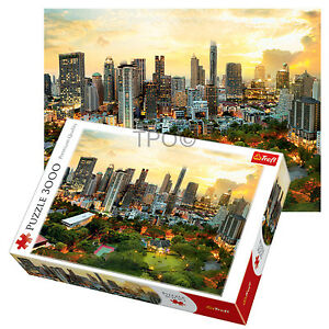 Trefl-3000-Piece-Adult-Large-Bangkok-Sunset-Thailand-Skyline-Jigsaw-Puzzle-NEW
