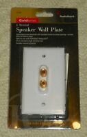 Radio Shack Gold Series - 2-terminal Speaker Wall Plate (x2)