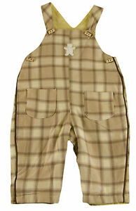 JACADI Girl/'s Aerien Pink Heart Embellished Long Dungarees Size 6 Months NWT $55