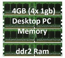 4GB = 1GB x 4 DDR2 DESKTOP MEMORY RAM pc Dell HP Compaq dx2400 dx2450 dx7500