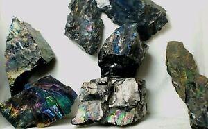 Bright-Peacock-Coal-Genuine-Natural-Rainbow-Anthracite-Mineral-Specimen-20-30g