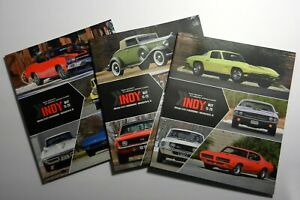 Dana-Mecum-Auto-Muscle-Car-Auction-Catalog-Indy-Indianapolis-3-Books-May-2018