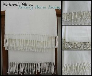 3af1971a47 Image is loading Alpaca-Throw-Rug-off-White-Large-Natural-Soft-