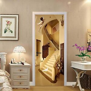 Image Is Loading 3D Angel House 574 Door Wall Mural Photo