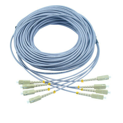 50M Armored Multimode Duplex Fiber Optic Cable Patch Cord 62.5//125 SC to ST