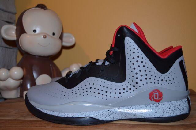 purchase cheap 632b2 b0641 NEW ADIDAS D ROSE 773 III Basketball Shoes SZ 10 11.5 GreyBlack D68988  Derrick