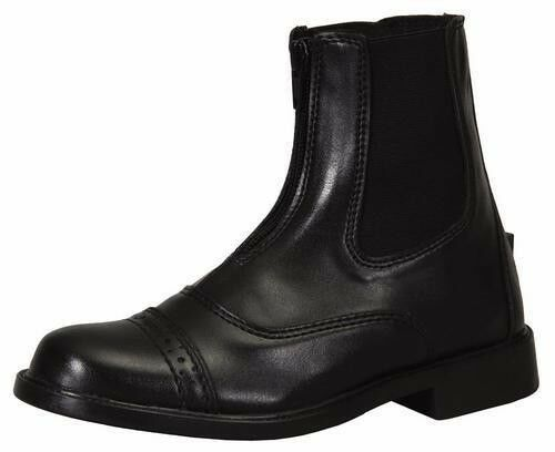 Tuffrider Starter Zip Paddock Riding Boots Ladies Rubber Sole Synthetic Leather