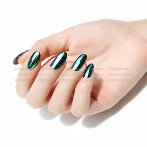 Image Is Loading New Green Mirror Chrome Effect Nail Powder Pigment