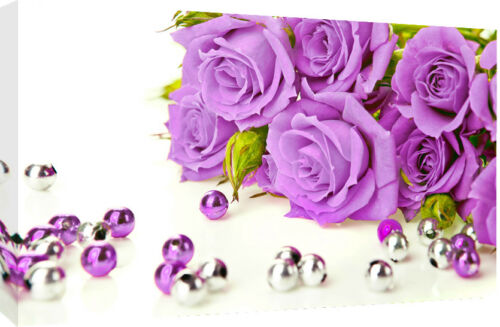 A2 sizes A1 Lilac Roses Cotton Canvas Wall Art Picture Print