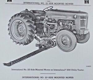 IH International Farmall No 23 Mid Side Mount Highway Mower
