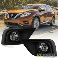 Fits 2015-2017 Murano Factory Style Bumper Fog Lights Driving Lamps+switch+cover on Sale