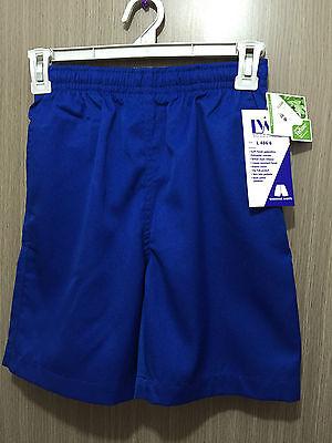 BNWT Boys Sz 10 LW Reid Brand Royal Blue Gaberdine Elastic Waist School Shorts