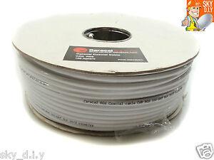 50m-White-RG6-Satellite-Freesat-Digital-TV-Aerial-Coax-Cable-Coaxial-Lead