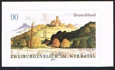 2856 ** Brd 2011, Sk Aus Mh , Zweiburgenblick Werratal