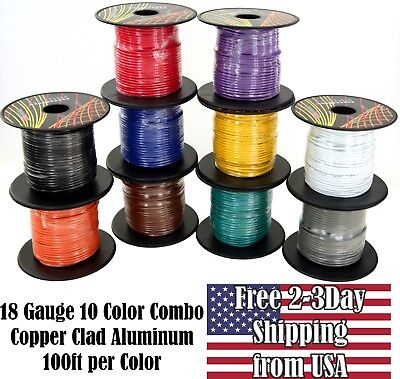 10 feet Red 10 ft Black Combo Pure Copper Primary Wire for Car Audio Speaker Amplifier Remote 12 Volt DC Automotive Trailer Harness Hookup Wiring American Wire Gauge GS Power 12 AWG