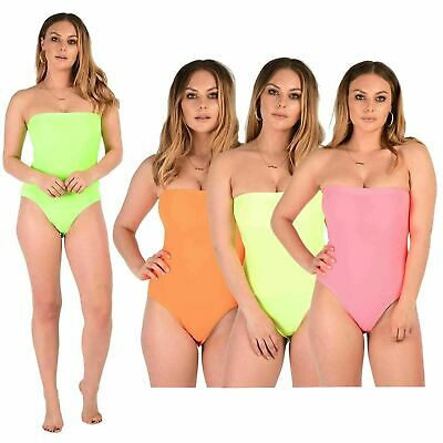 Nouveau Femmes Sans Manches Ladies Boob Tube Plain Bandeau Body Justaucorps Top