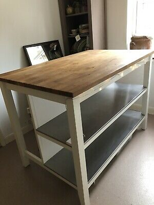 Ikea Stenstorp Wooden White Kitchen Island Table Breakfast Bar Ebay