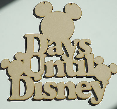 Days until Disney countdown hanging MDF Laser cut sign /plaque