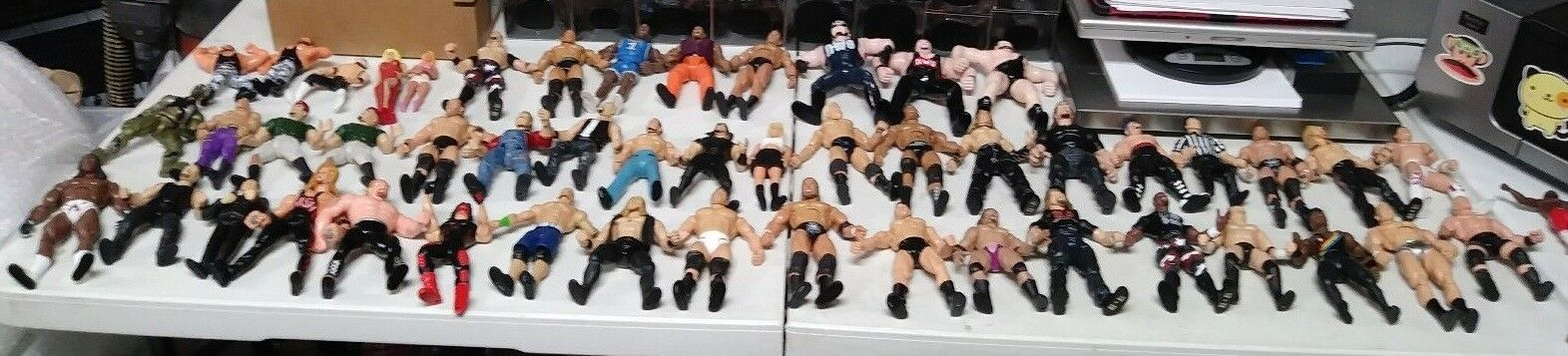 Lot Of 66 Wrestling Action Figures Jakks Etc. Late Late Late 1990s To Mid 2010s WWE WWF e95412