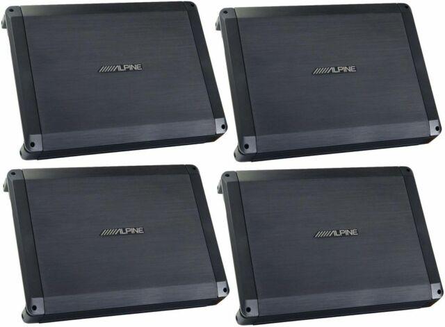 Alpine 600 Watts Max 4 Channel Bass EQ Class A/B Car Audio Amplifier (4 Packs)