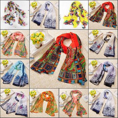 New Fashion Lady Girls Long Soft Chiffon Scarf Wrap Shawl Stole Scarves Soft