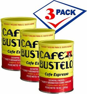 Bustelo-Cuban-Coffee-10-oz-can-Pack-of-3-Free-Shipping