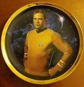 "Captain Kirk-Star Trek 25th Annivers. Plate ""Hamilton Collection"" Commemorative!"