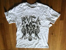 NWT RVCA Whie Graphic Tee 100% Soft Cotton, Sz Small (S-T-180)