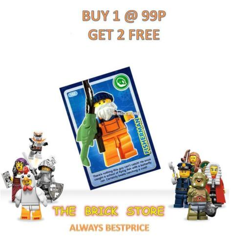 GIFT CREATE THE WORLD TRADING CARD BESTPRICE NEW #102 FISHERMAN LEGO