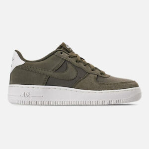 Details about NIKE AIR FORCE 1 SUEDE GS MEDIUM OLIVE SAIL BASKETBALL ( AR0265 200 ) SIZE 7Y