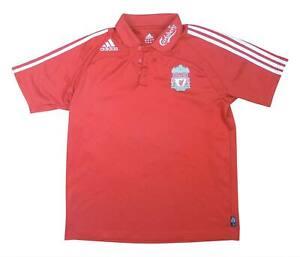 Liverpool 2008-09 ORIGINALE POLO (eccellente) L soccer jersey
