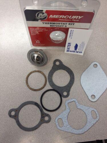 Mercury MerCruiser Engine OEM 160 Degree Thermostat Kit 807252T 5 *NEW*