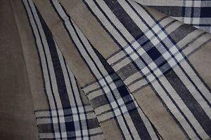 altes mangeltuch rolltuch xl l ngs quer blaue streifen leinen neuwg 38 17 ebay. Black Bedroom Furniture Sets. Home Design Ideas