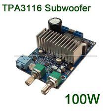 DC 12V-24v TPA3116 Subwoofer Amplifier Board Support 100W Bass Output Updated