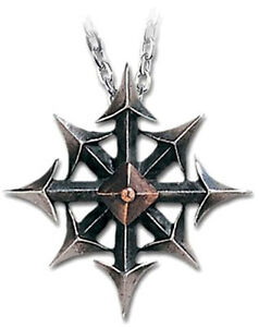 GENUINE-Alchemy-Gothic-Pendant-Chaostar-Men-039-s-Alternative-Necklace