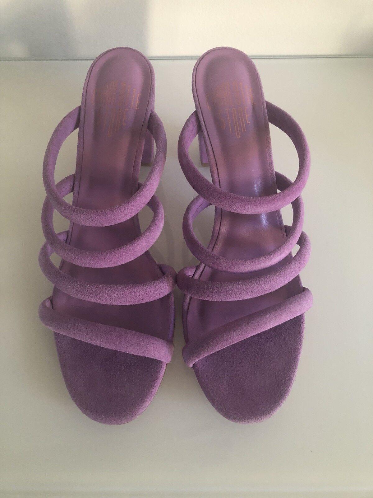 Charlotte Stone Bettina Purple Purple Purple Suede Strappy Heel 5cd855