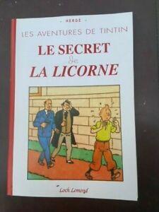 Tintin-Album-Le-secret-de-la-Licorne-avec-les-strips-du-Soir-NEUF