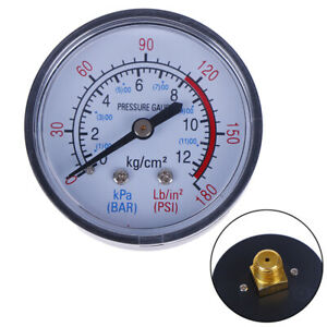 Bar-Air-Pressure-Gauge-13Mm-1-4-Bsp-Thread-Double-Scale-For-Air-Compressor-FE