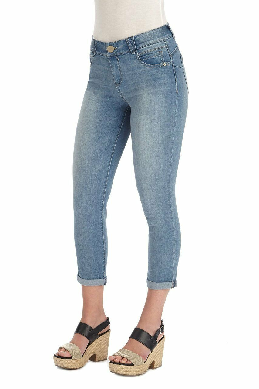 Democracy Women's Light bluee Wash AB Solution Crop Jean Ankle Skimmer Jeans