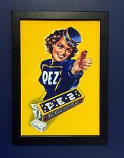 Pez Candy Dispenser Vintage 1940 Framed A4 Size Poster Shop Display Sign Advert