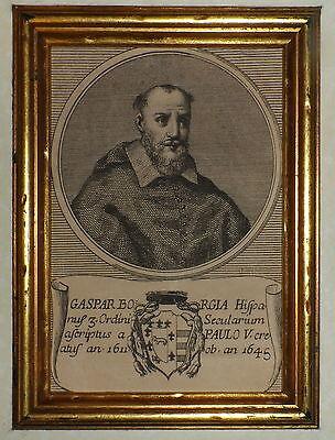 600'-RITRATTO PAPA PAOLO V-PAULO-GASPAR BORGIA HISPANUS ORDINI SECULARIUM