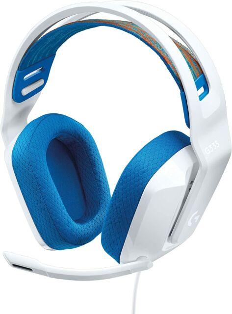 Logitech G335 Cuffie Gaming Cablate, Microfono Flip to Mute HEADSET BIANCO
