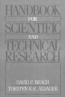 Handbook for Scientific and Technical Research by Beach, David P.