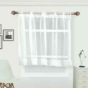 Details about Half Curtain Short Coffee Net Embroidery Kitchen Home Decor  White