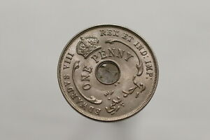BRITISH-WEST-AFRICA-PENNY-1936-KN-HIGH-GRADE-B15-S7643