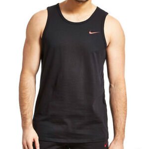 best authentic ac555 83219 Details about Nike Swoosh Mens Black Grey Blue Vest Retro Sports Gym  Sleeveless Athletic Tank
