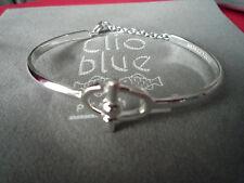 SPLENDIDE BRACELET CLIO BLUE ARGENT 925/CLAVETTE/RIGIDE/CHAINE SECURITE/NEUF