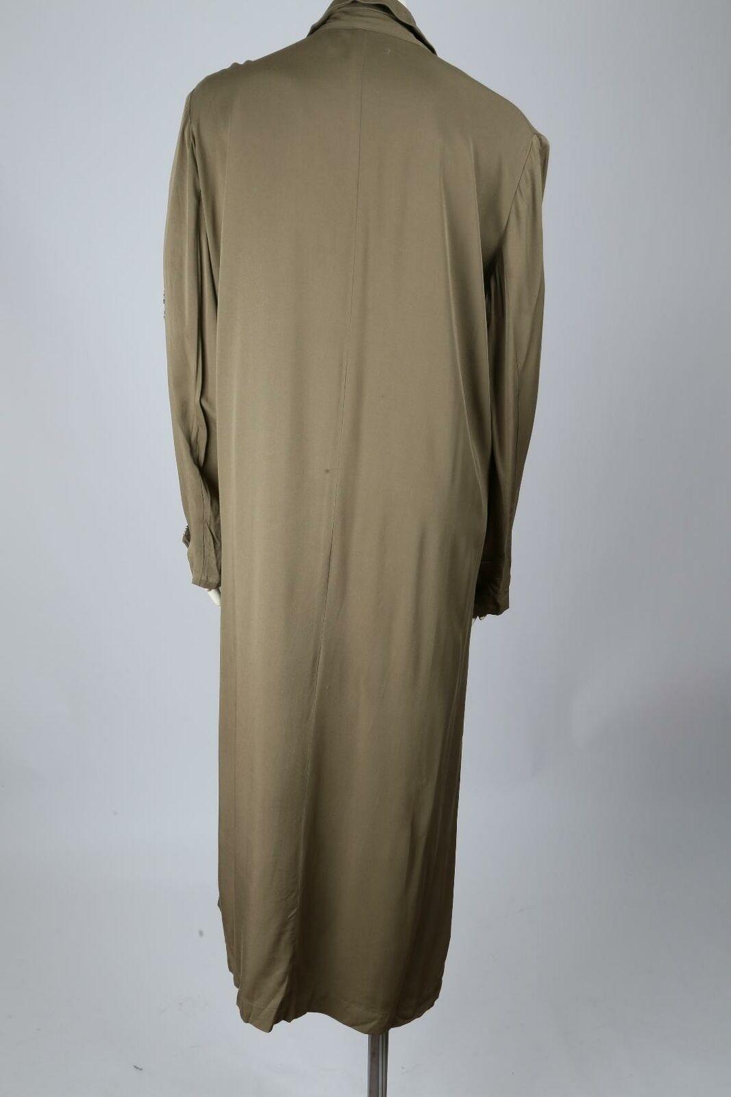 MANGO Olive Green Oversized Wrap Long Trench Coat… - image 5