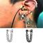 Cool-Men-Stainless-Steel-Chain-Dangle-Ear-Stud-Piercing-Earrings-Popular-Jewelry thumbnail 2